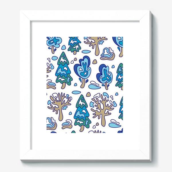 Картина «Зимний лес, детский принт»