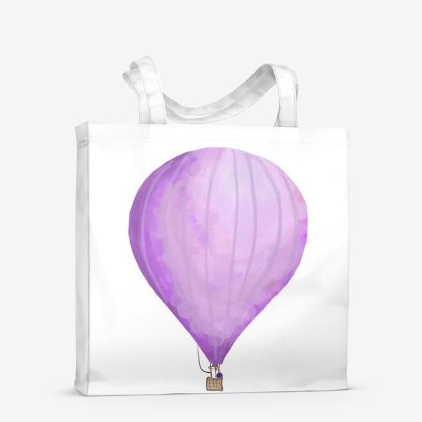 Сумка-шоппер «Воздушный шар рисованный акварелью»