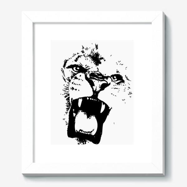 Картина «Принт лев в стиле графика»