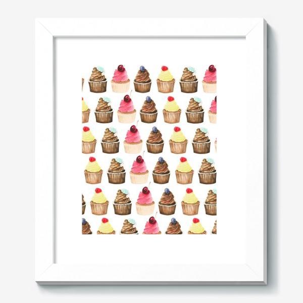 Картина «Яркие капкейки с ягодами»