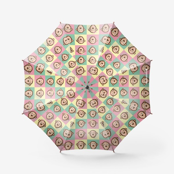 Зонт «Паттерн обезьяны»