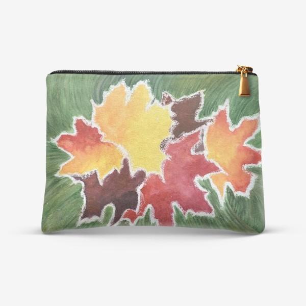 Косметичка «Листья в инее»