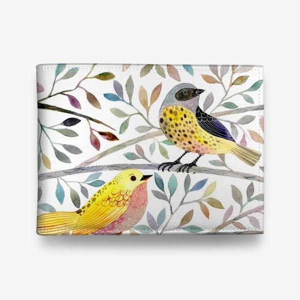 Кошелек «Птицы на веточках»