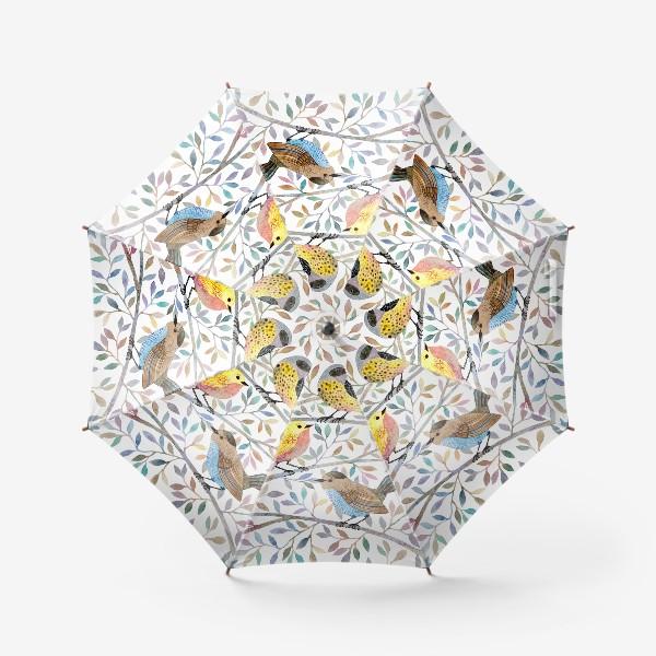 Зонт «Птицы на веточках»