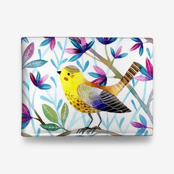 Кошелек «Птичка на веточках »