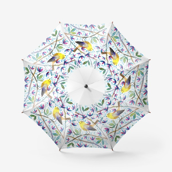 Зонт «Птичка на веточках »