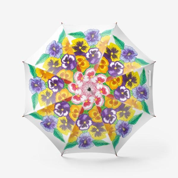 Зонт «Анютины глазки»