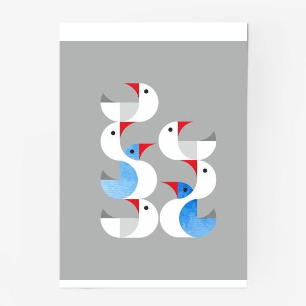 Постер «Гуси лебеди.»