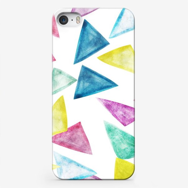 Чехол iPhone «Акварельный треугольники»