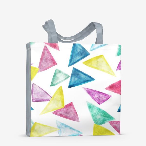 Сумка-шоппер «Акварельный треугольники»