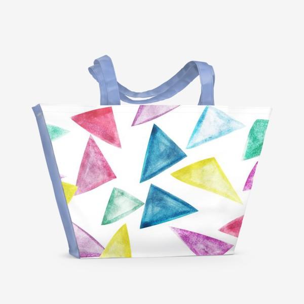 Пляжная сумка «Акварельный треугольники»
