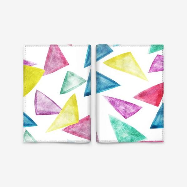 Обложка для паспорта «Акварельный треугольники»
