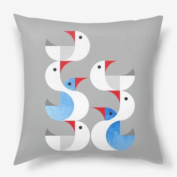 Подушка «Гуси лебеди.»