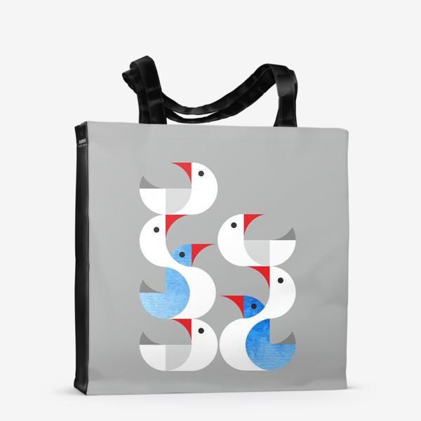 Сумка-шоппер «Гуси лебеди.»