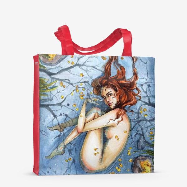 Сумка-шоппер «Осень. Девушка в воде»