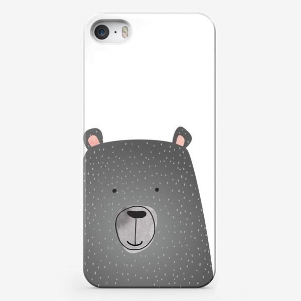 Чехол iPhone «Мишка серый»
