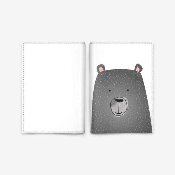 Обложка для паспорта «Мишка серый»
