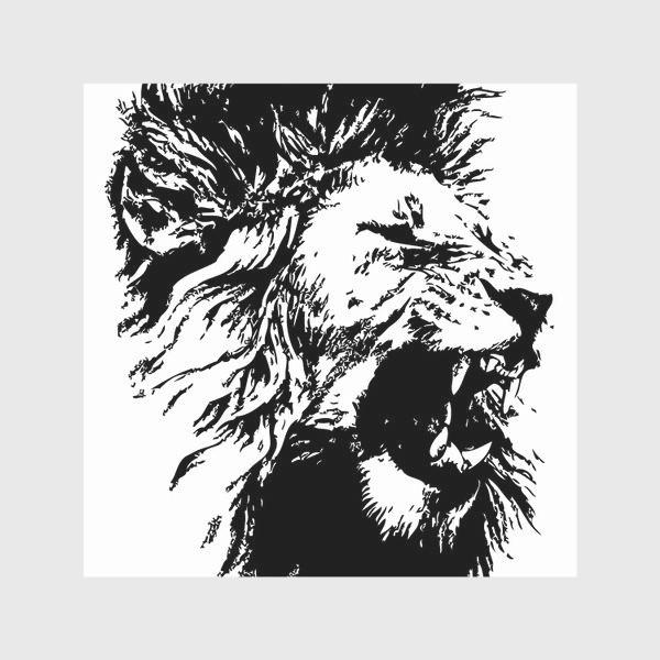 Скатерть «Принт лев в стиле графика»