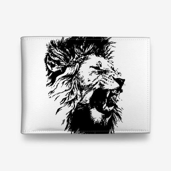 Кошелек «Принт лев в стиле графика»