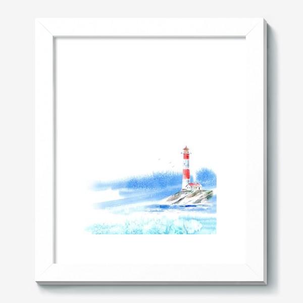 Картина «Маяк и море.»