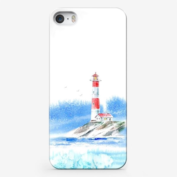 Чехол iPhone «Маяк и море.»