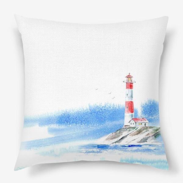 Подушка «Маяк и море.»
