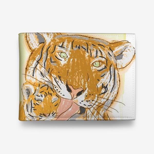 Кошелек «Утренние умывашки. Мама тигрица и тигренок»