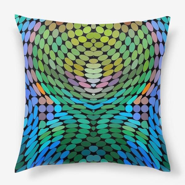 Подушка «Узор из кружков»