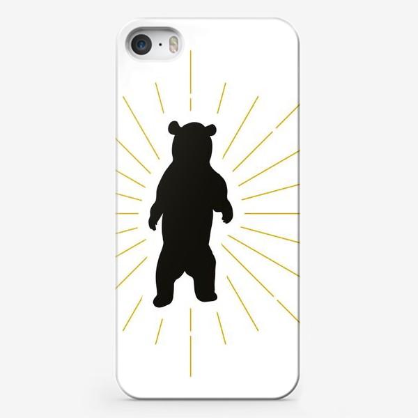 Чехол iPhone «Сильный зверь - дикий медведь»