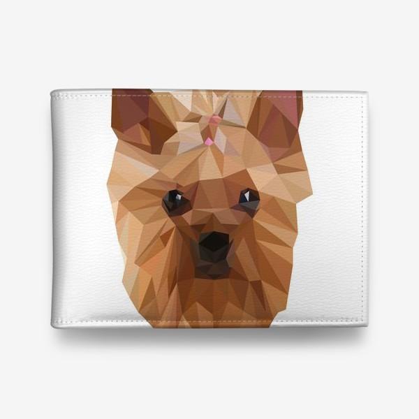 Кошелек «Йоркширский терьер, милейшая собака в стиле лоу-поли»