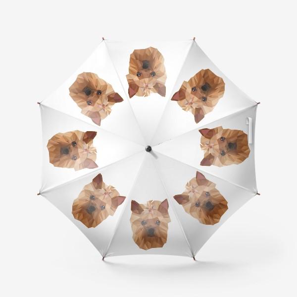 Зонт «Йоркширский терьер, милейшая собака в стиле лоу-поли»
