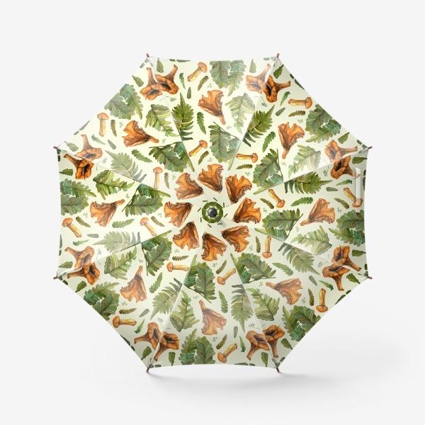Зонт «Лисички и папоротник»