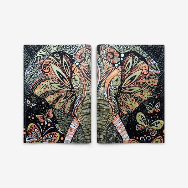 Обложка для паспорта «слон»