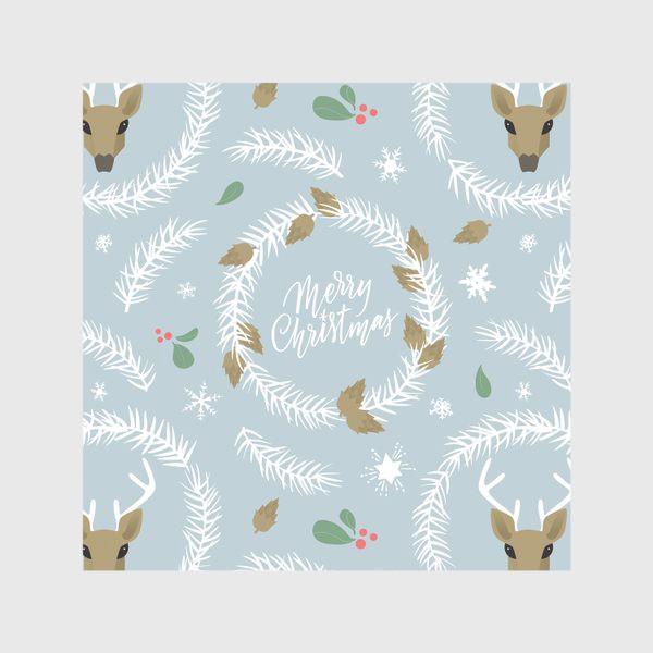 Скатерть «Рождественский паттерн с оленями»
