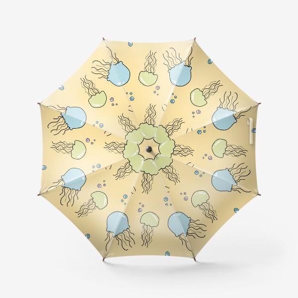 Зонт «Паттерн с медузами»
