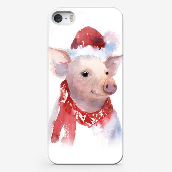 Чехол iPhone «ПОРОСЕНОК 2019. СВИНЬЯ. ХРЮША»