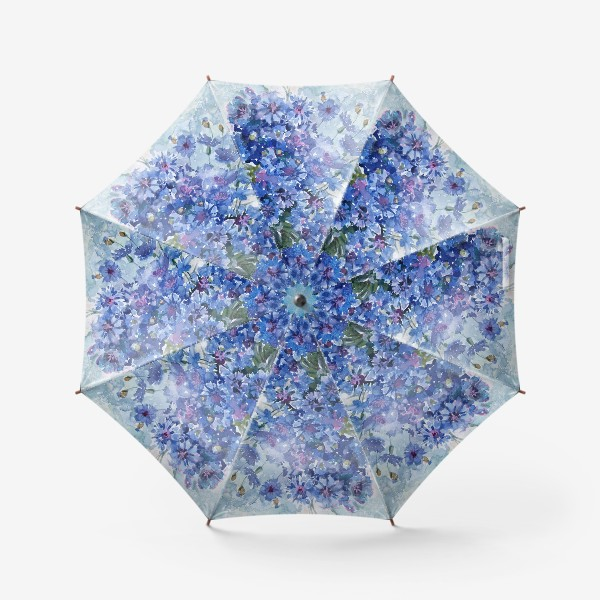 Зонт «Букет полевых васильков»