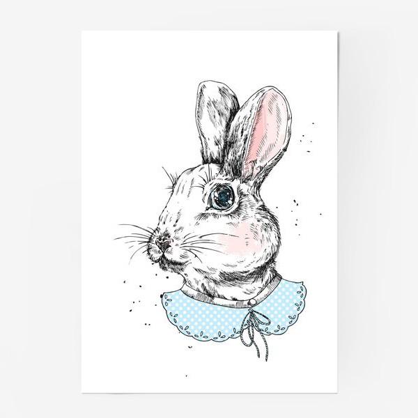 Постер «Милый кролик в платье»