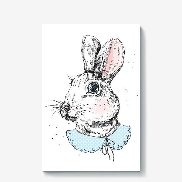 Холст «Милый кролик в платье»