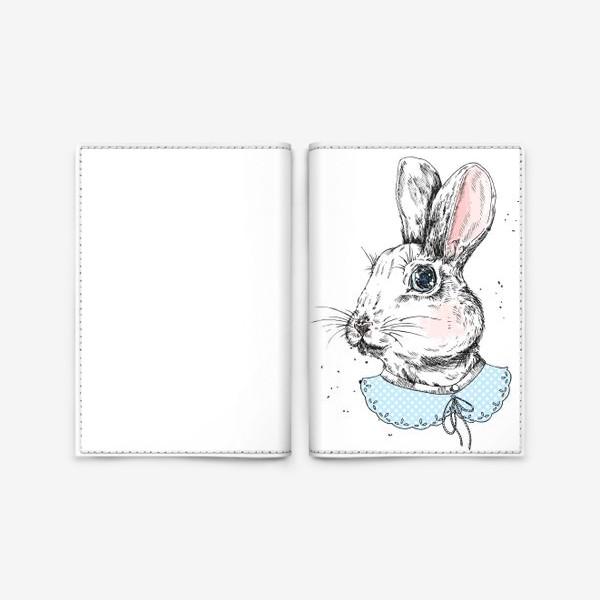 Обложка для паспорта «Милый кролик в платье»