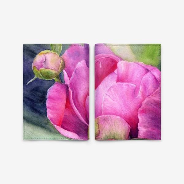 Обложка для паспорта «Волшебный цветок. Пион»