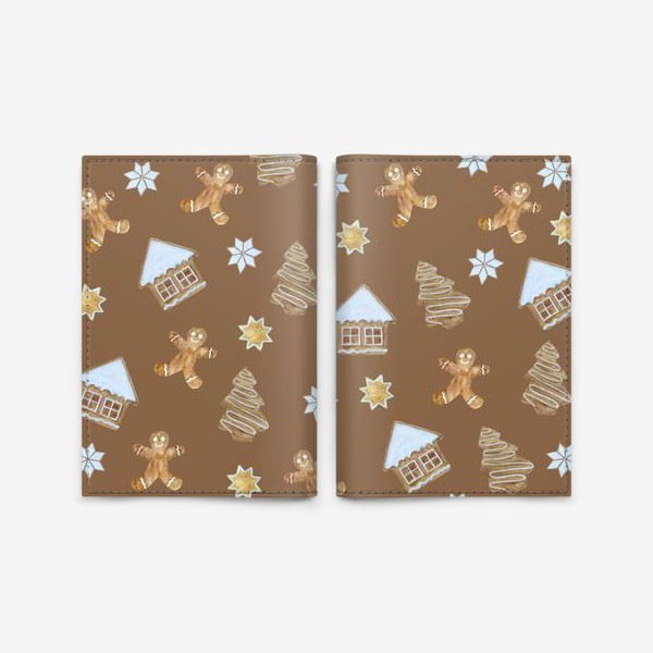 Обложка для паспорта «Рождественские печенья»