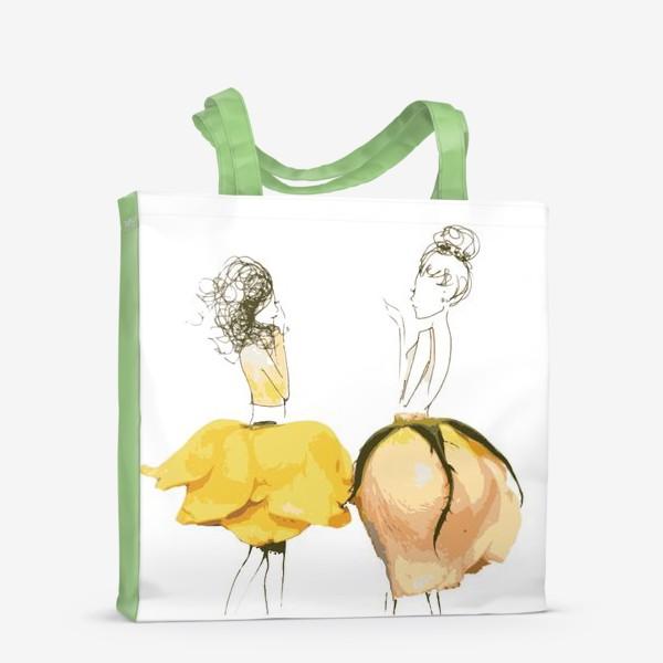 Сумка-шоппер «Девушки в цветочных юбках»