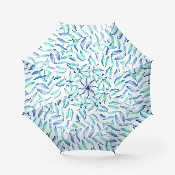 Зонт «Паттерн из листьев »