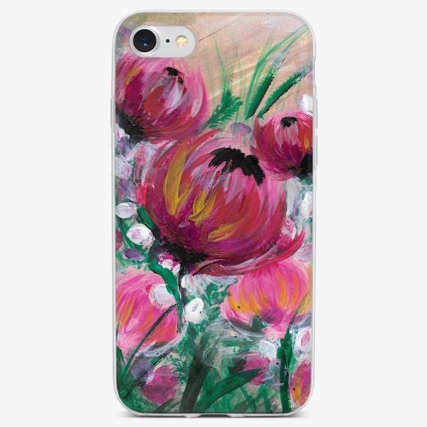 Чехол iPhone «Розовые цветы»