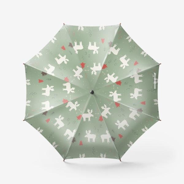 Зонт «Лоси. Паттерн»