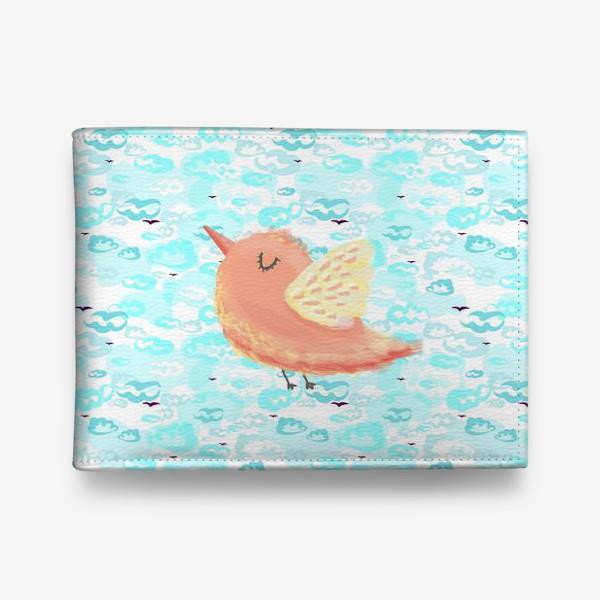 Кошелек «Птичка в облаках небо_Bird_sky_cloud»