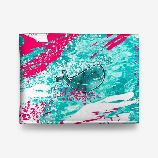 Кошелек «Кит в море графика_Graphic whale in the sea»
