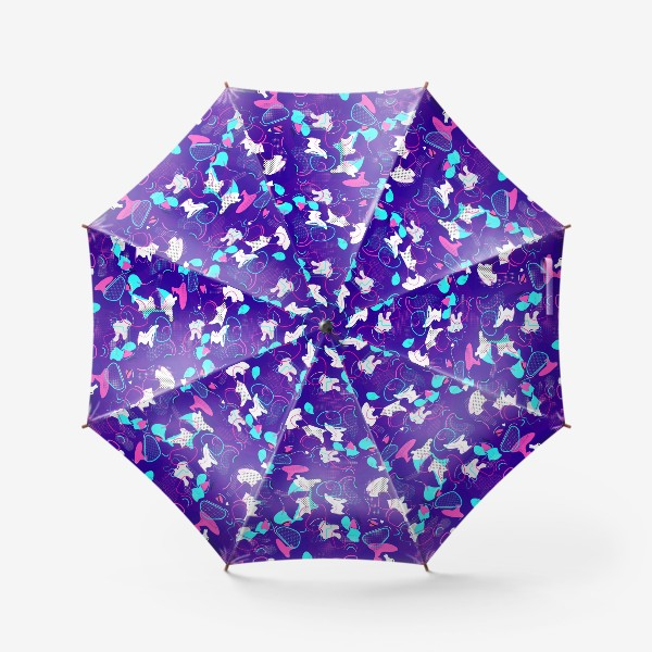 Зонт «Паттерн абстракция пятна кляксы линии»