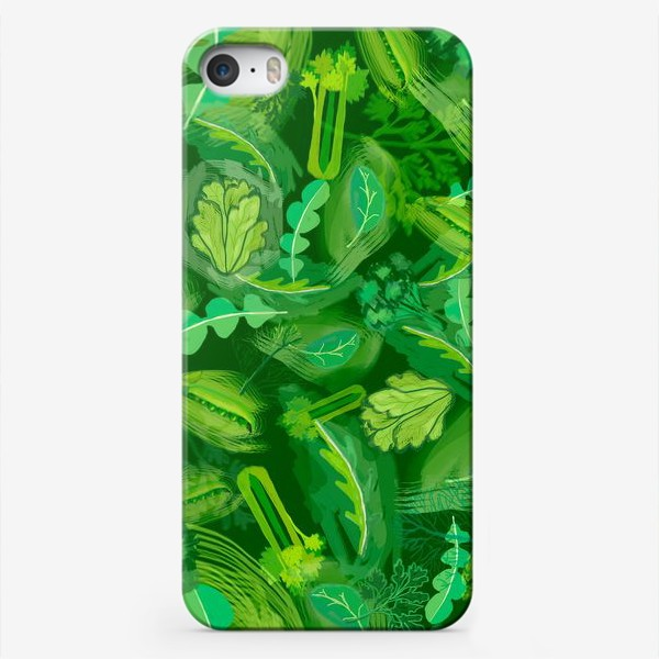 Чехол iPhone «Кухня еда зелень шпинат сельдерей укроп »